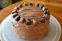 Salted Caramel and Chocolate Birthday Cake with Nutella Frosting