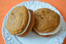 Pumpkin Whoopie Pies with Maple Ginger Cream Cheese Frosting